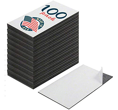 kedudes Self Adhesive Business Card Magnets, Peel and Stick, Great Promotional Product, Value Pack of 100