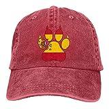 KLING Gorra de béisbol para Hombre y para Mujer, Algodón con Pata de Perro con Bandera de España