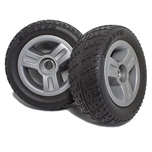 New Solutions DW820 Pride Go-Go Elite Traveller 3 or 4 Wheel Scooter Rear Wheels and Tire Replacement, Pair, NOT for Elite Plus (Elite Rear Wheel)