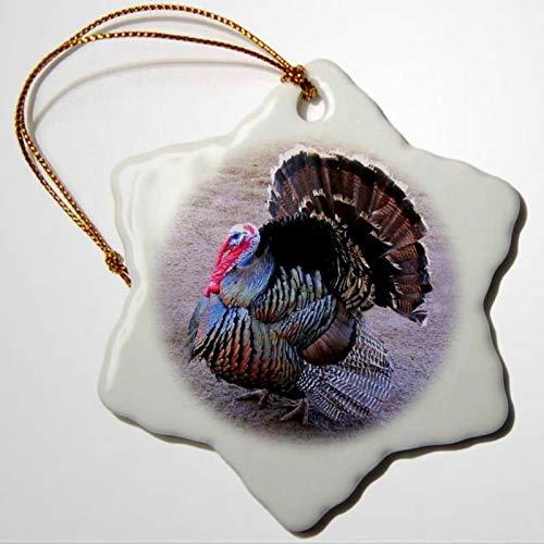 BYRON HOYLE Wild Turkey Snowflake Porcelain Ornament Christmas Ornaments Pandemic Xmas Decor Wedding Ornament Holiday Present