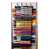 Vinyl Roll Storage, Holds 24 Rolls, Adjustable Bands For Various Roll Size, Wall/Door/Closet Hanging storage , Diamond Painting Organizer, Rolled Storage. Also for Maps, Sewing Stabilizer, Posters, Maroon