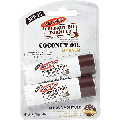 Palmer's Coconut Oil Formula Lip Balm Duo (with SPF 15), Pack of 2, Coconut