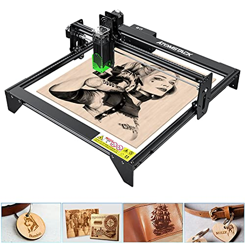ATOMSTACK A5 20W Laser Engraver for Wood and Metal by Binkols, Laser Engraving Cutting Machine, Logo Engraver for Home, 410x400mm Engraving Area