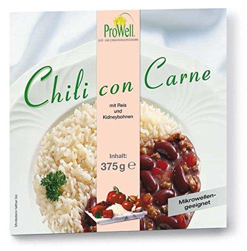 ProWell Diät- und Ernährungsprogramm - Chili con Carne (Fertiggericht) - 375 g (1 Menü/Mahlzeit)