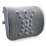 Amazon Brand - Umi Lumbar Support Pillow, Apoyo Almohada Lumbar de Espuma Memoria, Cojín Lumbar Transpirable con Contorno Ergonómicas, para Silla de Ruedas/Silla de Oficina/Asiento de Coche