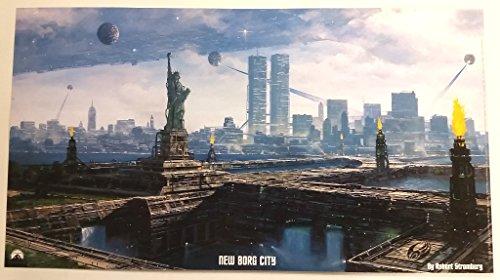 Star Trek New Borg City Litho Poster 20 x 11 inches by Robert Stromberg