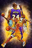 FoveroPoster Kobe Bryant Retirement Game Basketball NBA Poster 12 x 18 Inch Poster Rolled