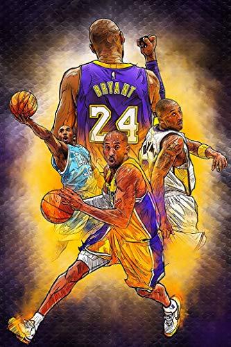 FoveroPoster Póster de Kobe Bryant de la NBA de la jubilación del juego de baloncesto de 30,5 x 45,7 cm