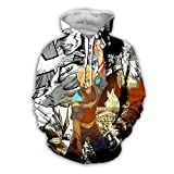 HXPainting Unisex Impresión 3D Sudadera con Capucha Pullover Anime My Hero Academia Midoriya Izuku Personajes Daquan Cosplay Mangas Largas Sweatshirts Hoodie,C,L