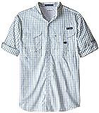 Columbia Super Bonehead - Camisa clásica de Manga Larga para Hombre, Hombre, Color Lotus Check Púrpura, tamaño L Tall