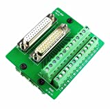 Twinkle Bay DB25 Connector to Wiring Terminal Db25 Breakout Board Solder-Free (Male and Female Adapter)