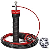 INTENT SPORTS Jump Rope Tangle-Free with Ceramic Ball Bearings - Smooth Action Adjustable Skipping Ropes Ideal for Aerobic Exercise Like Speed Training, Endurance Training and Fitness Training