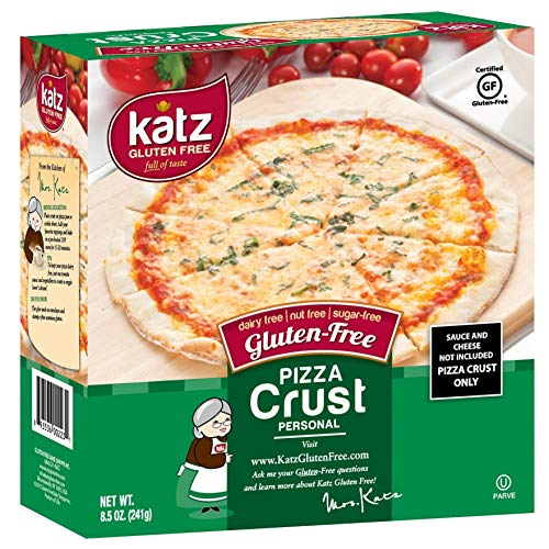 Katz Gluten Free Small Pizza Crust 5' | Dairy, Nut and Gluten Free | Kosher (6 Packs of 4 Crusts, 8.5 Ounce Each)