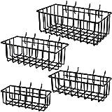 ToolAssort Pegboard Basket Set of 4, Hooks Easily to Arrange Accessories, Organizer Bins T...