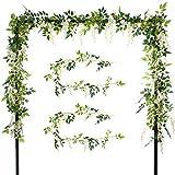 2 Guirnaldas de flores artificiales de seda de 2,0 m para colgar,...