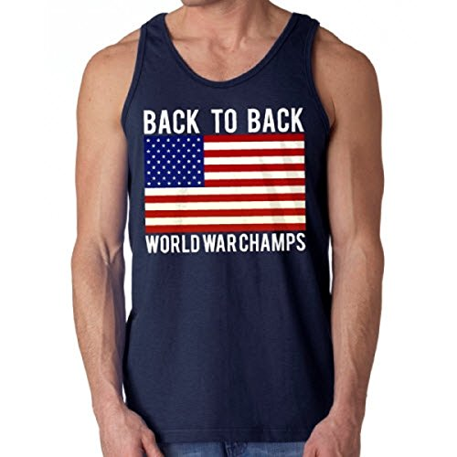 Back to Back World War Champs Tank Top (Navy, X-Large)