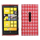 Asmyna NK920CASKCA036 Argyle Premium Slim and Durable Protective Cover for Nokia Lumia 920 - 1 Pack - Retail Packaging - Clear