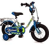 Unbekannt Kinderfahrrad 12 Zoll mit Stützräder und Rücktrittbremse Jungen Mädchen Fahrrad für...