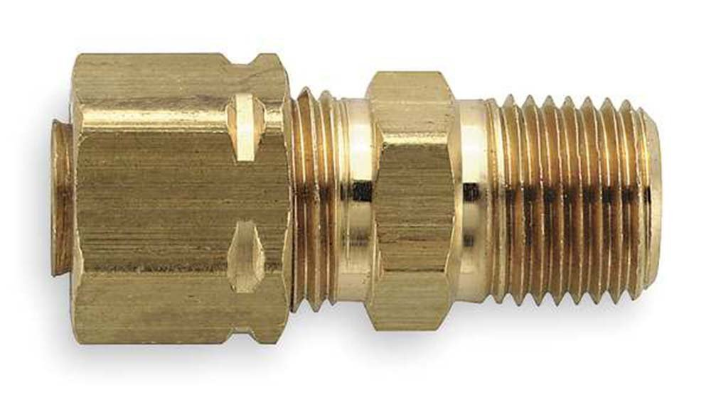 3//4 Compression Tube x 3//4 Male Thread Parker Hannifin 68CA-12-12 Brass Male Connector Compress-Align Fitting