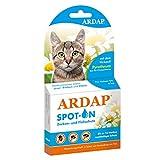 ARDAP Spot On - Zecken & Flohschutz für Katzen bis 4kg - Natürlicher Wirkstoff - Bis zu 12 Wochen nachhaltiger Langzeitschutz