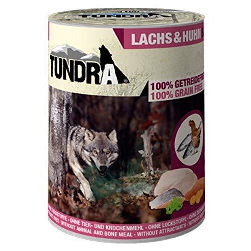 Tundra Nassfutter Hundefutter Lachs & Huhn - getreidefrei (24 x 800g)
