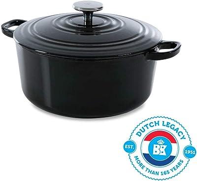 BK Bourgogne Cast Iron Oven, 4.4QT, Black