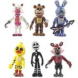 BESTZY 6pcs Five Nights at Freddy's, Five Nights At Freddy Modelo de decoración Modelo de personaje animado Regalo (4.5 pulgadas)
