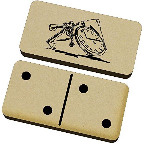 Azeeda 'Uhr und Schlüssel' Domino-Spiel und Box (DM00005700)