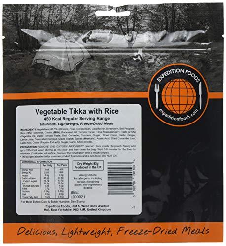 Expedition Foods Gemüse Tikkamit Reis (450kcal), 1er Pack (1 x 90 g)