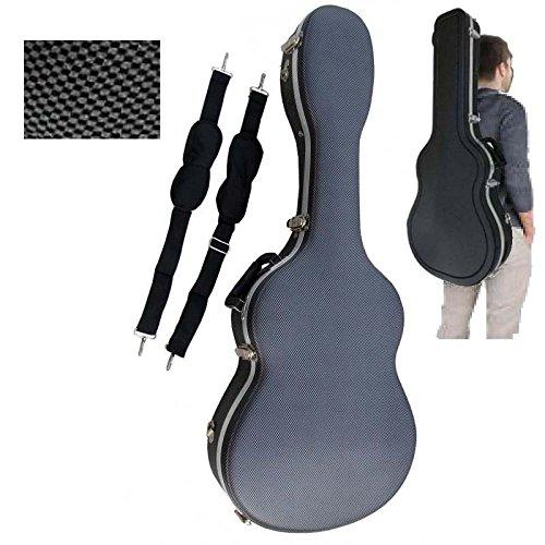 Estuche ABS para Guitarra Clásica, marca Cibeles (Gris Cuadritos)
