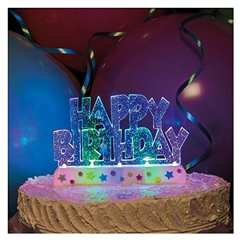 Unique Party - 37043 - Décoration à Gâteau d'Anniversaire - Happy Birthday - Clignotante