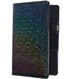 Mymazn Holographic Glitter Serving Book Waitress Wallet Waiter Book Organizer for Guest Check Book Restaurant Server Pad, Glitter Black
