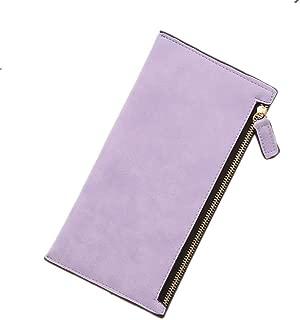 Simple Designer Women Leather Slim Wallet Female Purse Clutch Thin Wristlet Phone Coin Credit Card Holder
