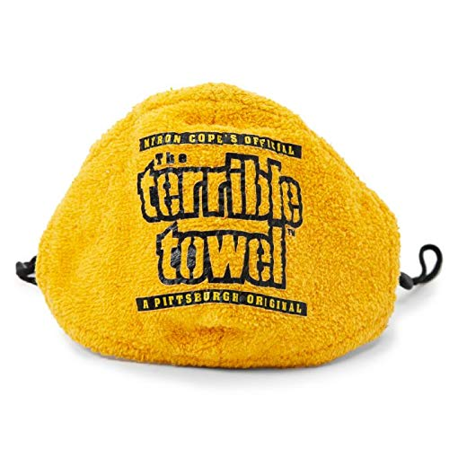 Myron Cope's Terrible Towel - Face Mask Covering with Adjustable Straps