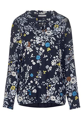 Cecil Damen Bluse mit Blumenmuster deep Blue XL