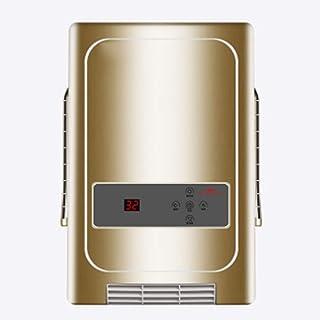 OOFAT La Inteligencia De Control Remoto Calentador De Espacios, Calefactor Eléctrico Portátil, Co-Corriente Montado En La Pared Baño/Cocina del Ventilador del Calentador,C