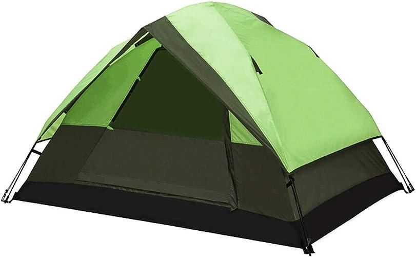 Tente 2 Personnes Camping en Plein air Camping en Plein air épaississement Double Famille de Pluie ZHAOSHUNLI (Couleur   vert)