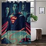 Wasserdichter, ungiftiger Duschvorhang, Superman, hohe Temperaturwiderstandsfähigkeit, bunte Duschvorhänge, verschleißfest, Badezimmervorhänge