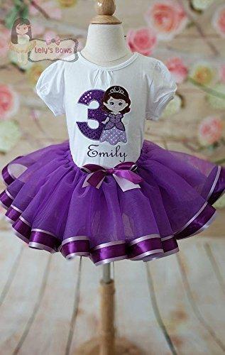 Disney/'s Sofia Printed T-Shirt  Onesie and Skirt Set Princess Sofia Set Sofia The First Birthday Outfit Baby Girls