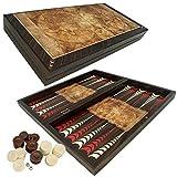 PrimoLiving P-815 Deluxe Backgammon Globe en Bois Marron Format...