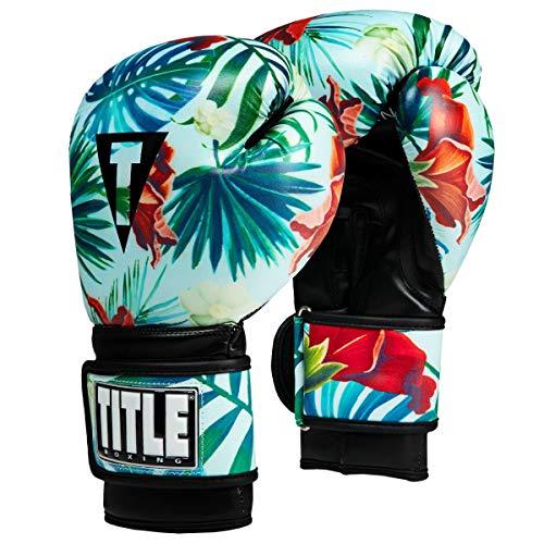 Title Boxing Hawaiian Floral Bag Gloves, Hawaiian, Medium