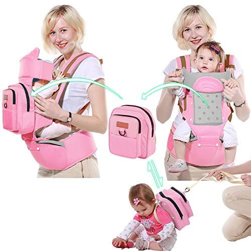 WDXIN Babytrage Bauchtrage Hüft Multifunktional Single Doppel Schulter Baby Strap Taille Hocker Baby Sitzen und umarmen Taille Hocker,A