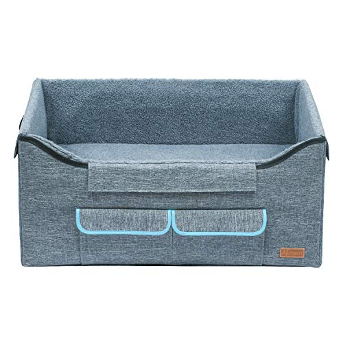 Akinerri Booster Car Seat with Pet Bed at Home for Small Dogs, Cats and Large Dog (Large, Grey)