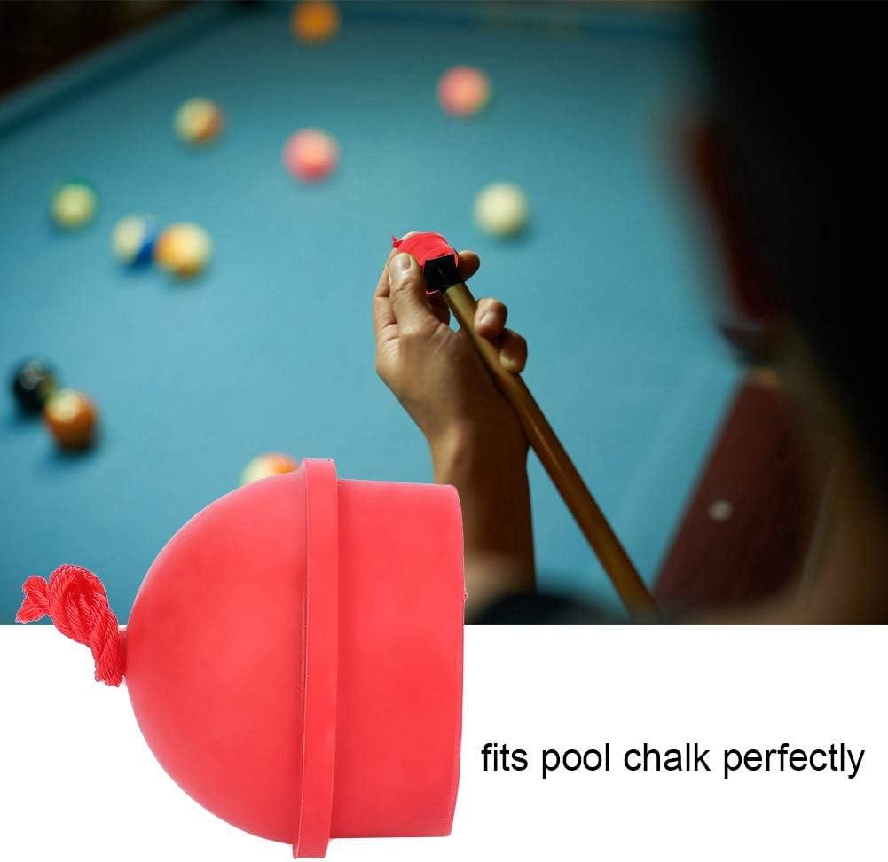 2pcs Dioche Billiard Cue Chalk Holder Non-Slip Cue Tip Chalk Billiard Pool Cue Chalk Holder with Cord for Snooker Pool