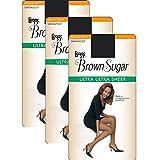 L'eggs Brown Sugar Ultra Ultra Sheer Pantyhose_Jet Black_XL
