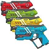 Light Battle Anti-Cheat Lasertag Set - 4X Spielzeugpistole (gelb, grün,rot, blau) - LBAP1021248AC