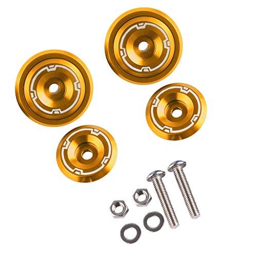 Sharplace 1 Kit Rahmen Lochabdeckung Kappe Stecker Schraube für Kawasaki Z900 Rahmen & Anbauteile - Gold
