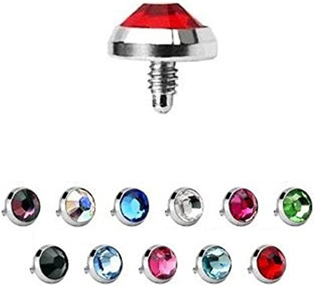BodyJewelryOnline 22 Outlet SALE Dermal Anchor Tops Flat CZ Al sold out. Surgical 5mm 14g
