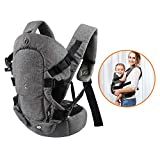 Baby Convertible Carrier, All Carry Position Newborn to Toddlers Ergonomic Carrier with Soft