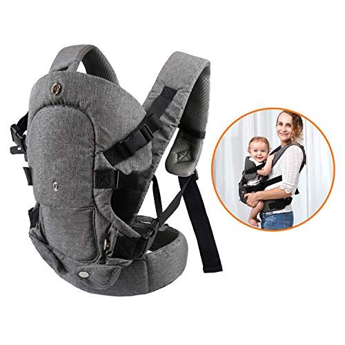 caiyuangg Baby Convertible Carrier, All Carry Position Newborn to Toddlers Ergonomic Carrier with Soft Breathable Air Mesh and All Adjustable Buckles